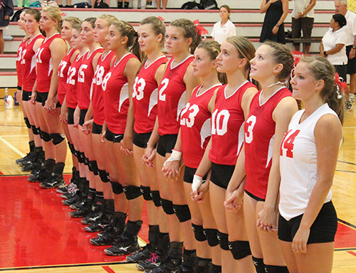 BHS Volleyball National Anthem Pic 2014