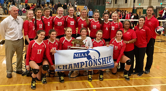 2017 Division I South Sectional Volleyball Champions Barnstable Girls Volleyball